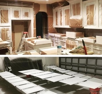 Kitchen cabinet painting in Vaughan