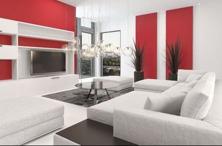 red-white-interior-painted room VAUGHAN ONT