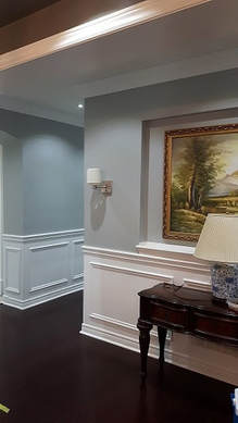 Interior painted walls and trim in Hamilton home