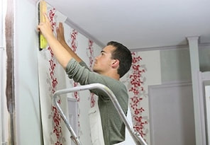 Wallpaper install and removal house painting in vaughan.