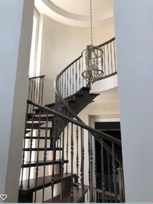 Beautiful stairway with high foyer. Painting contractor's dream
